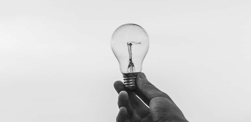 Glühbirne als Symbol für kreative Ideen