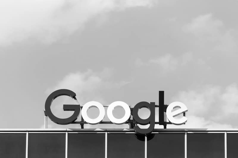 Google-Logo als Symbol für Suchmaschinenoptimierung