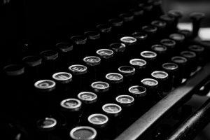 Tastatur der Schreibmaschine.